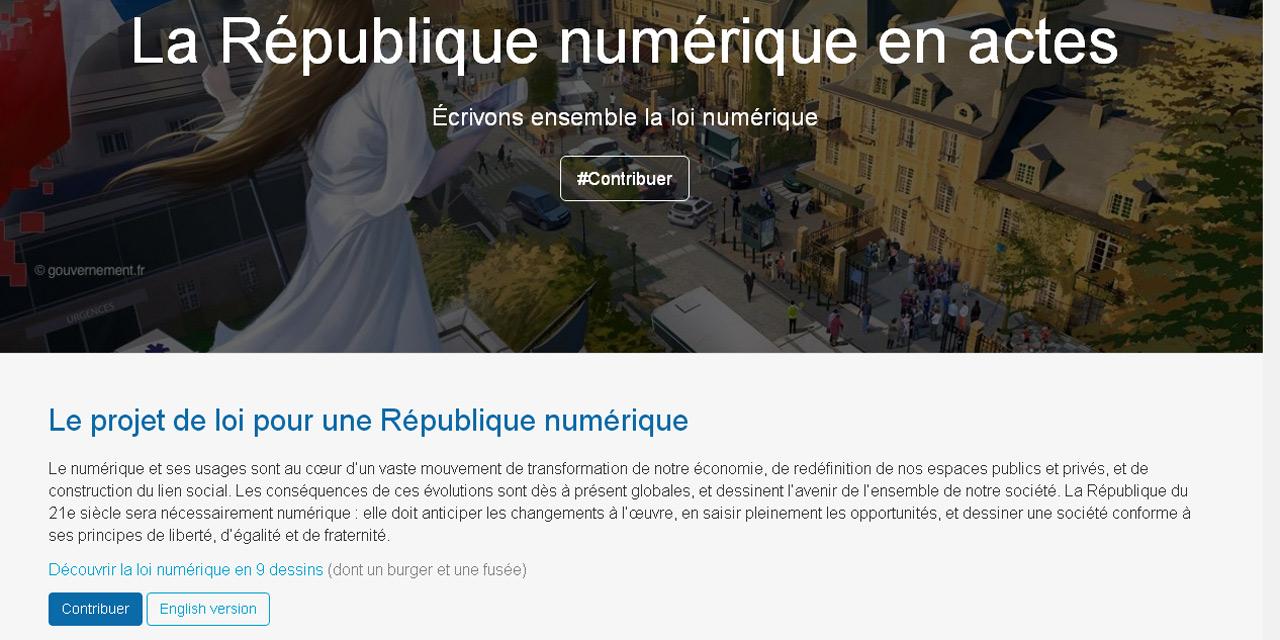 Loi Numérique : la consultation citoyenne en ligne a fait un carton !