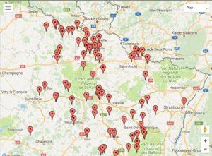 Cliquez sur la carte pour découvrir les films tournés dans la région Grand-Est