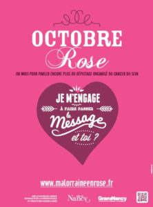 Affiche Octobre Rose Grand Nancy