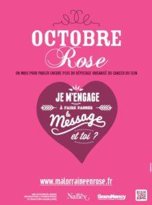 Affiche Octobre Rose Grand Nancy