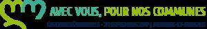 """logo du mouvement des élections sénatoriales d'Olivier Jacquin, """"Avec vous, pour nos communes"""""""